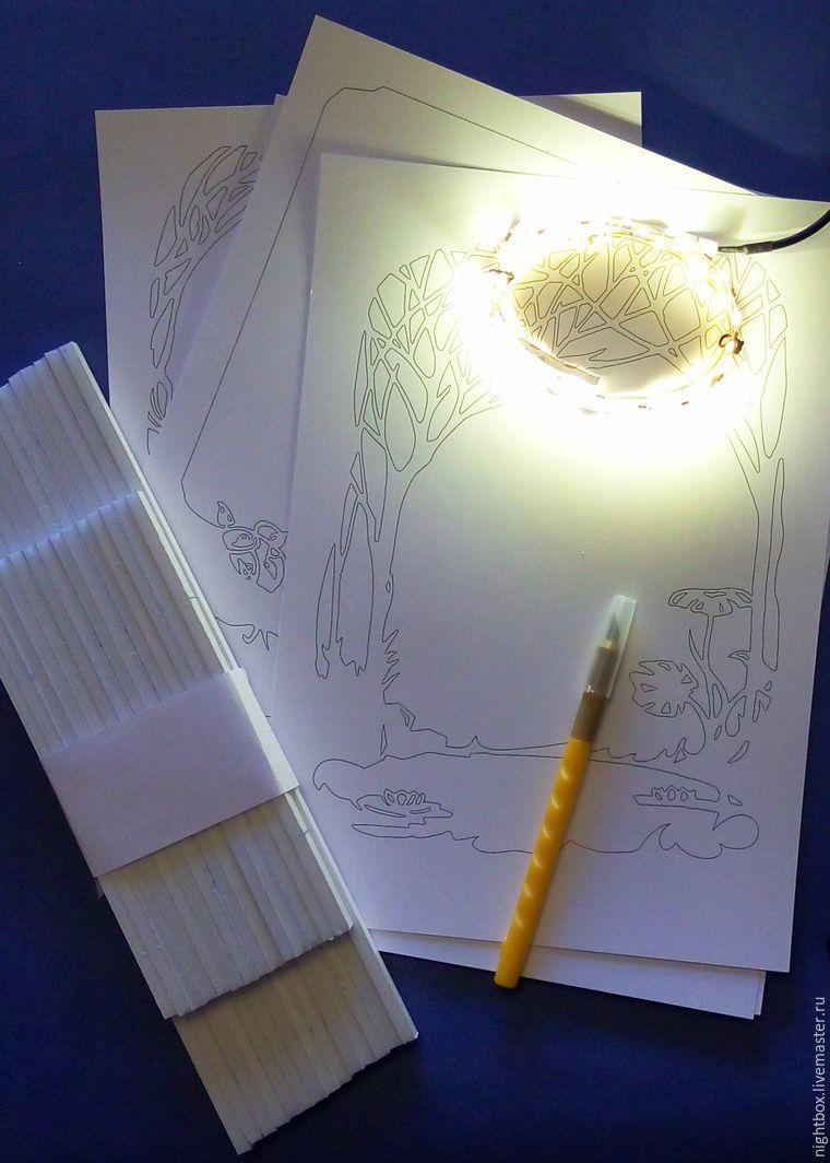 shadowbox, papercut