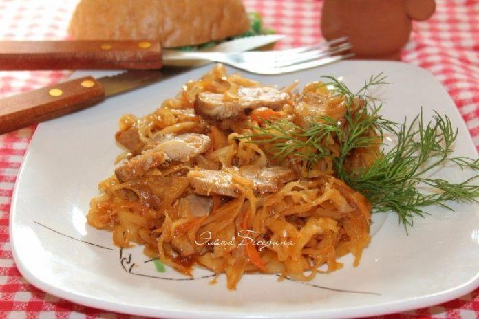 Блюдо покорившее все сердца с самого детства — Капуста тушеная с мясом