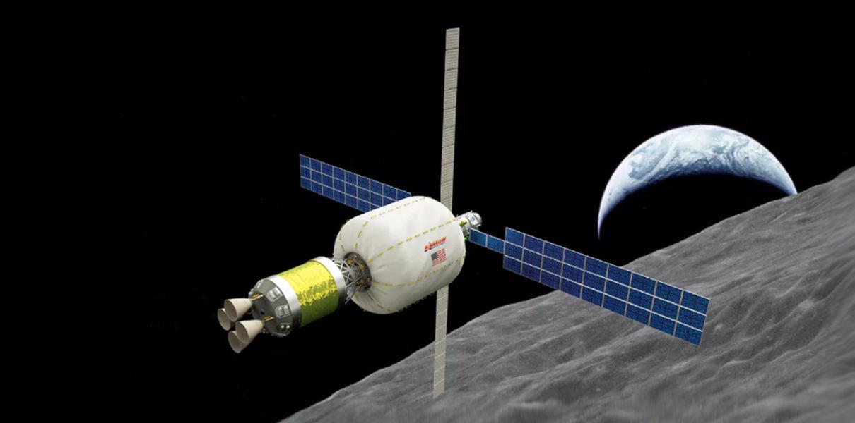 На орбите Луны появится надувная космическая станция