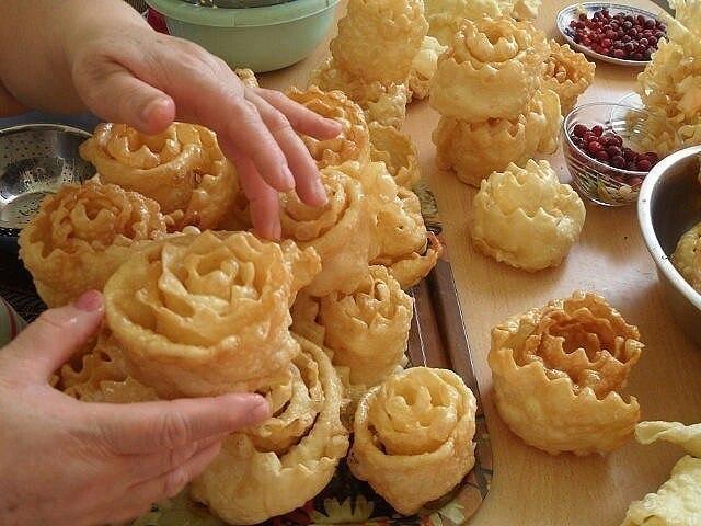 Блюдо дня. Вкуснейшее татарское национальное блюдо урама или паурсак