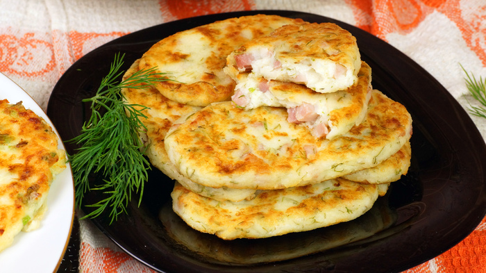 ЛЕПЕШКИ с начинкой из ветчины и сыра. Простой и быстрый перекус, завтрак или закуска. Еда, Рецепт, Кухня, Мясо, Говядина, С дедом за обедом, Видео