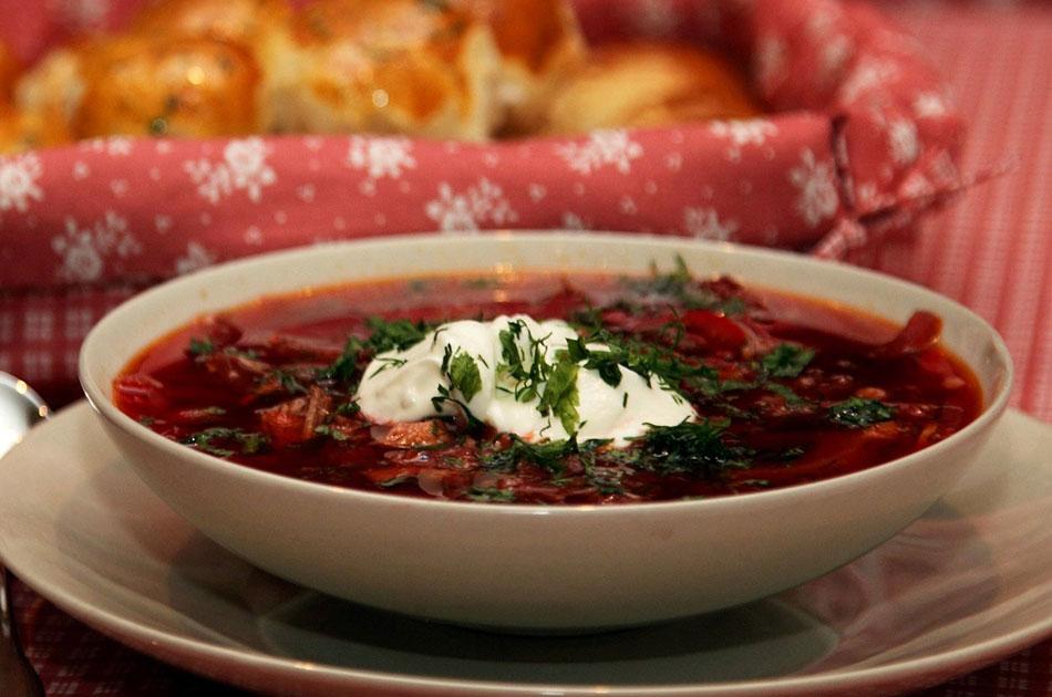 Рецепт борща по украински с пампушками