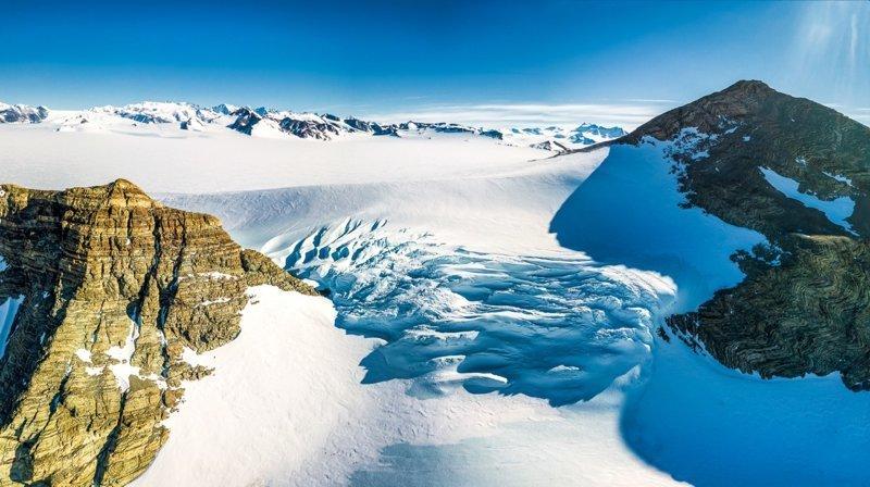 На эту высоту альпинисты не поднимаются из-за трещин антарктида, интересно, пик Винсона, путешествие, скалолазание, фотоотчет