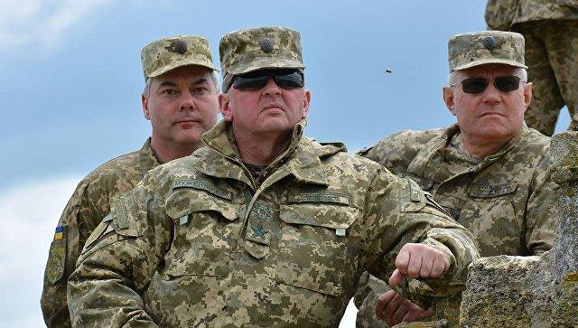 Главком украинской армии заявил о подготовке к вводу миротворцев в Донбасс