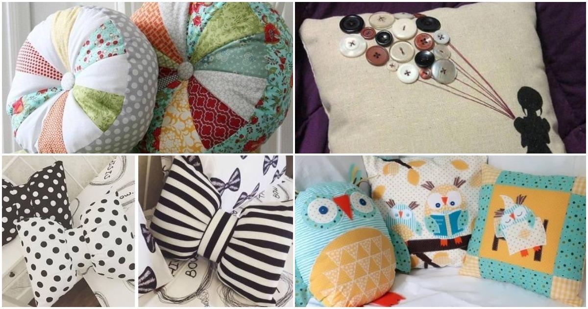 Дополните декор комнаты яркими оригинальными подушками
