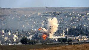 Российские бомбардировщики зацепили наемников США в Сирии