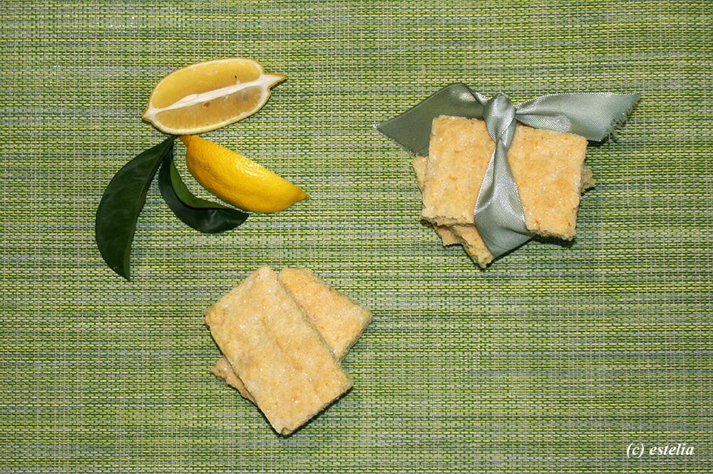 Лимонное песочное печенье без яиц