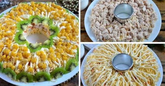 Салат с курицей на новогодни…