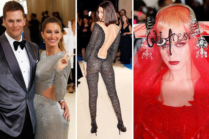 Звезды на Балу Института костюма: Мадонна побрила подмышки и прикрыла ягодицы, а Дженнифер Лопес похвасталась новым бойфрендом
