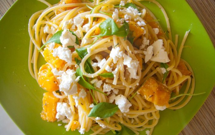 Спагетти с тыквой.  Фото: rightfood.net.
