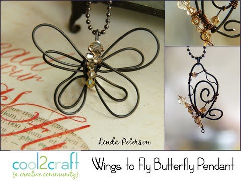 Картинки по запросу How to Make a Bent Wire Butterfly Pendant by Linda Peterson