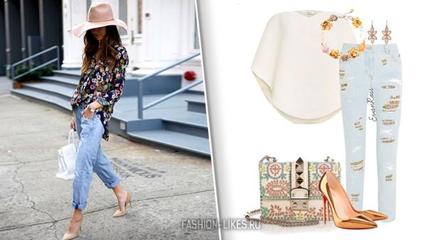 Как носить простые джинсы и лодочки осенью, чтобы быть самой стильной
