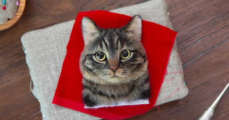 Старым девам на заметку: японка создает суперреалистичные 3D-портреты кошек из шерсти