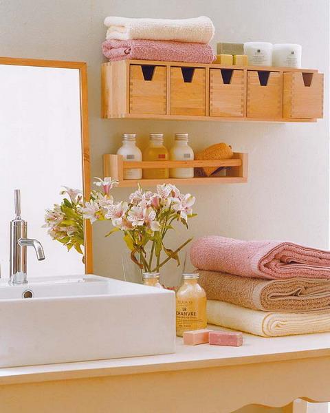 Практичные идеи хранения в ванной комнате