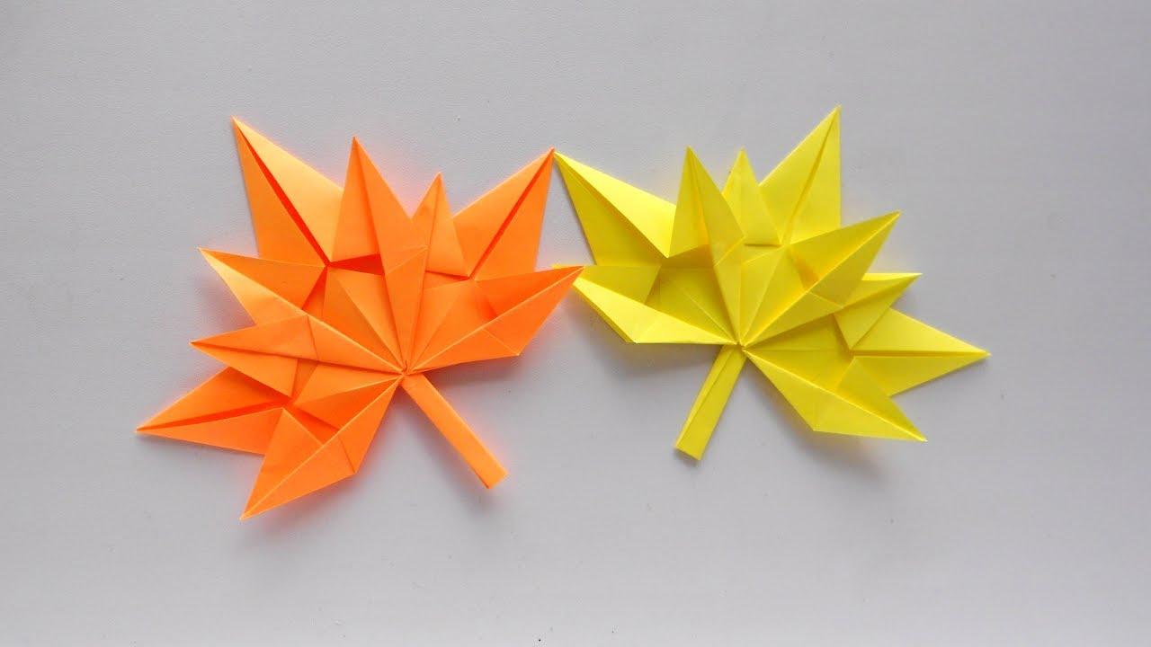 Картинки по запроÑу ОÑенний лиÑÑ' клена из бумаги ðŸ Кленовый лиÑÑ' оригами