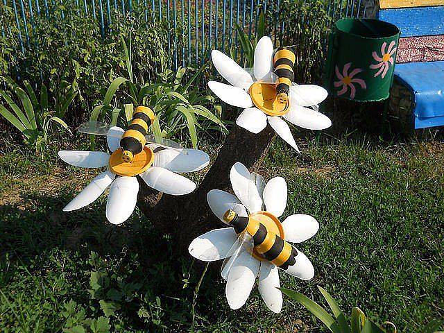 Поделки для сада своими руками ромашка