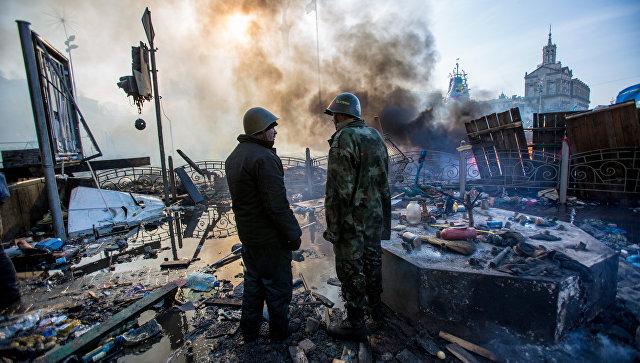 Еще одна стычка между радикалами и полицией произошла в центре Киева