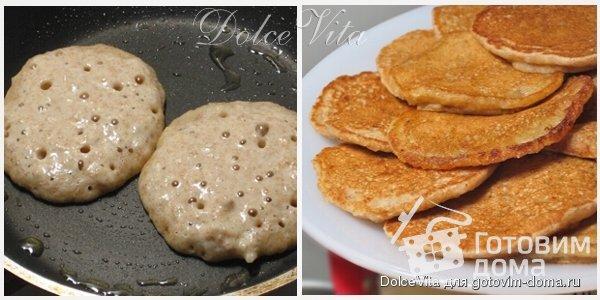 Быстрые оладушки к завтраку (без яиц) фото к рецепту 2