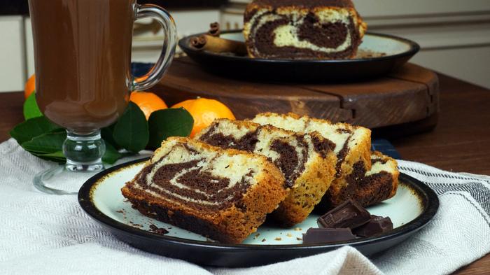 Мраморный кекс с горячим шоколадом С дедом за обедом, Еда, Кулинария, Мраморный кекс, Кекс, Шоколадный кекс, Видео, Длиннопост