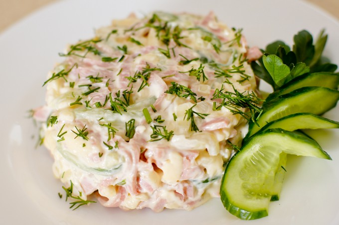 Салат с яйцами сыром и шампиньонами рецепт с