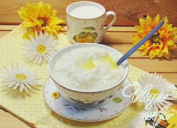 Как варить рисовую кашу на молоке