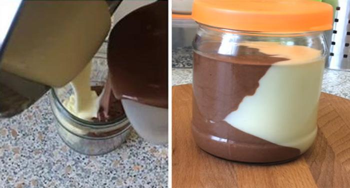 Домашний молочно-шоколадный десерт
