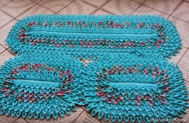 Из остатков ткани коврики своими руками