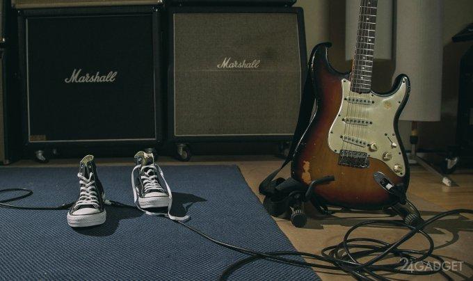 Кеды Converse со встроенной Wah-педалью для электрогитары