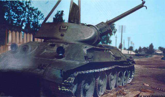 Т-34-85, подожженный панцерфаустом, и замечательные очки, спасшие мехвода