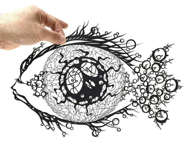 Нейромиелит зрительного нерва - или рыба? Мандалы, бумага, зентангл, художник