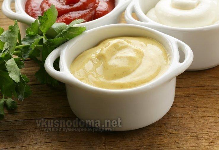 Соус из горчицы и зелени