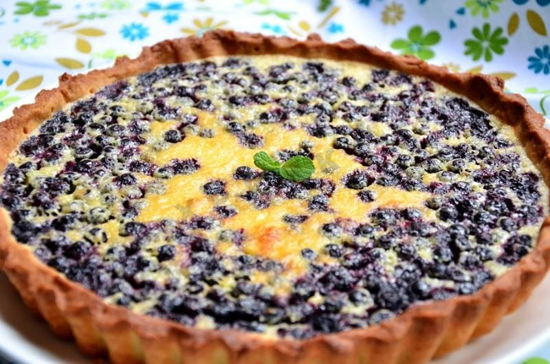 Фото рецепт пирог с черникой