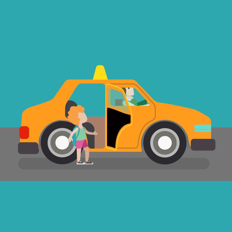 Анекдот про то, как таксист Вовочке вопросы задавал