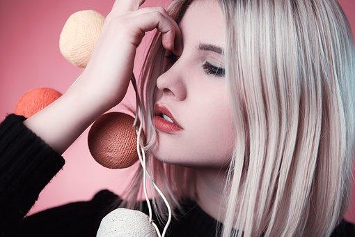 Девушка, Модель, Розовый, Мода, Портрет