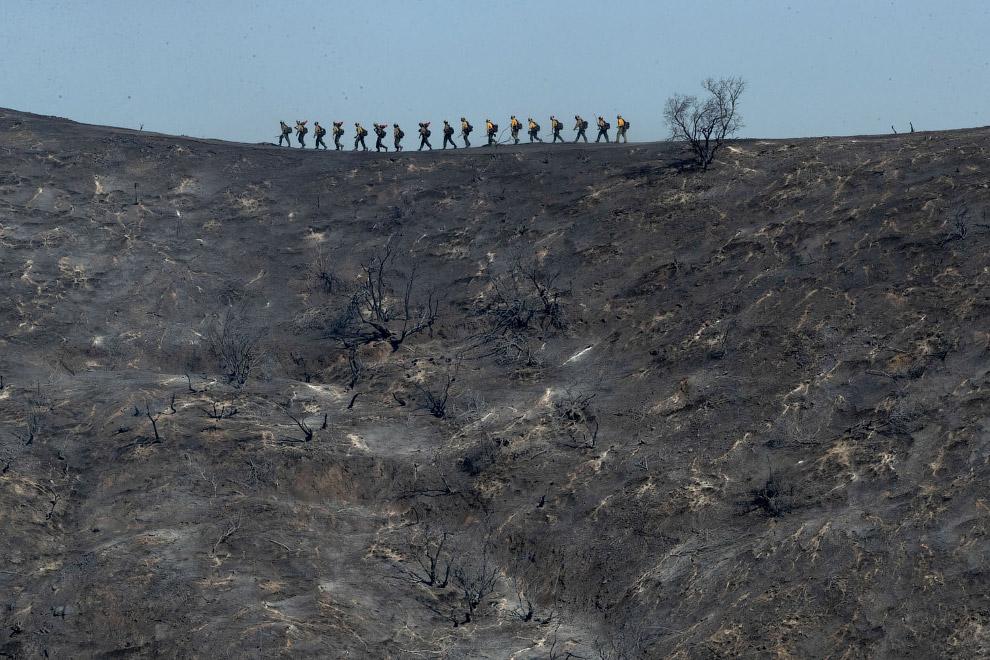 Мощные пожары, которые бушуют в Калифорнии