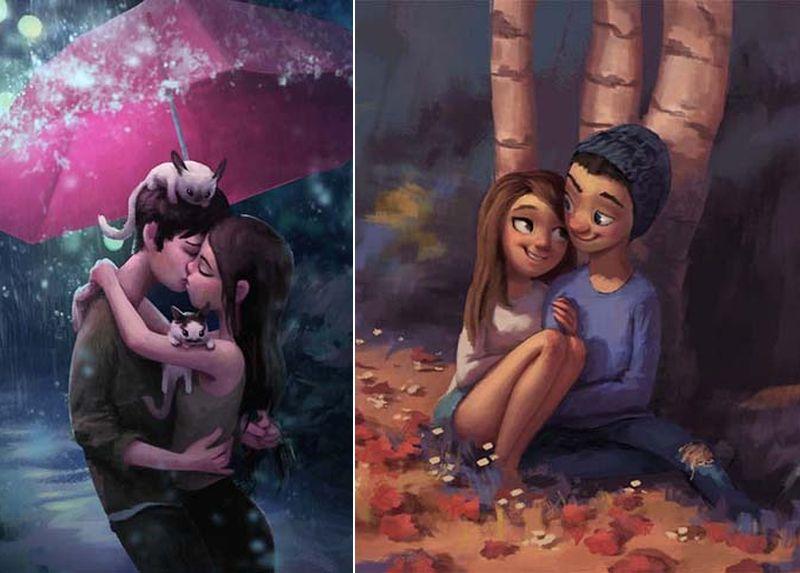 30 идиллических иллюстраций о любви и привязанности, которые согреют ваше сердце