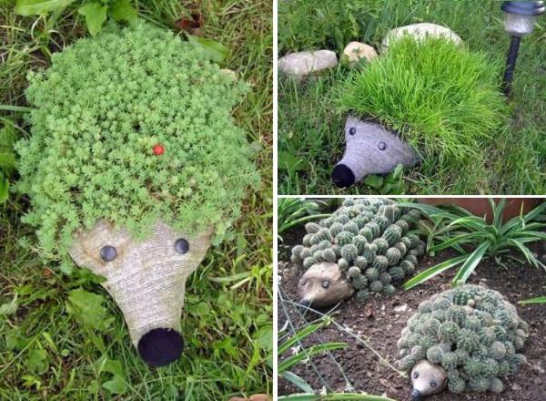 Ежики атакуют! Невероятный декор для сада из пластиковой бутылки
