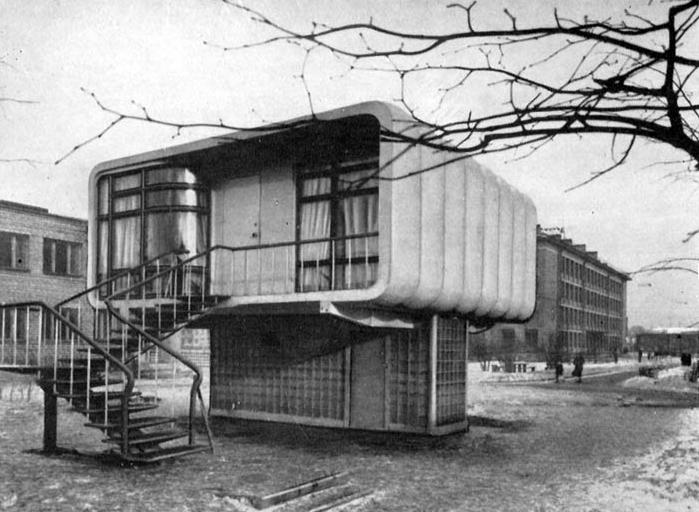 Ленинградский экспериментальный пластмассовый дом (14 фото)