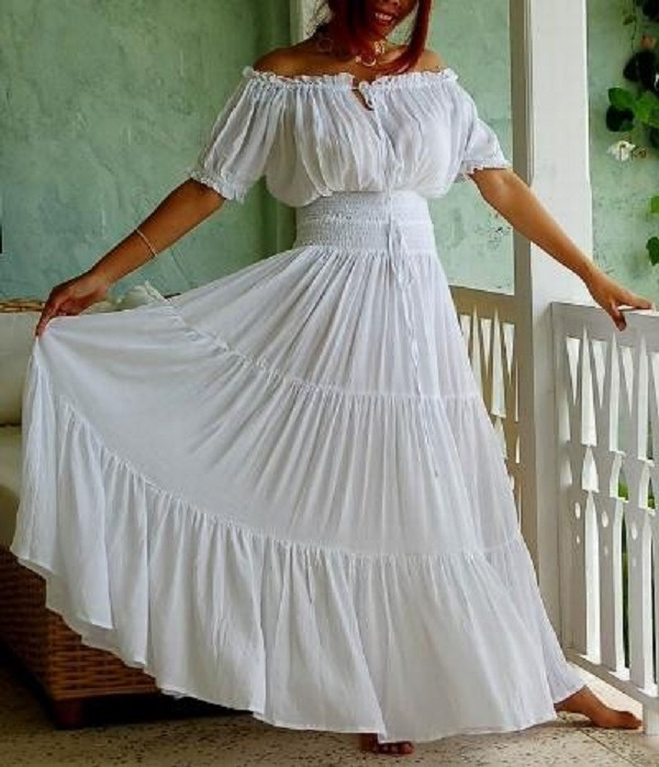 Как сшить платье в крестьянском стиле 24