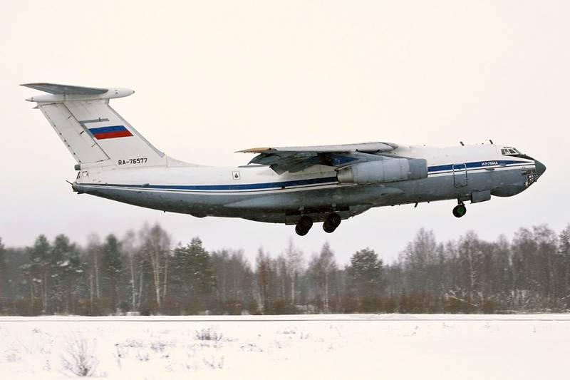 Экипажи транспортных Ил-76МД отработали бомбометание и стрельбу из авиапушек