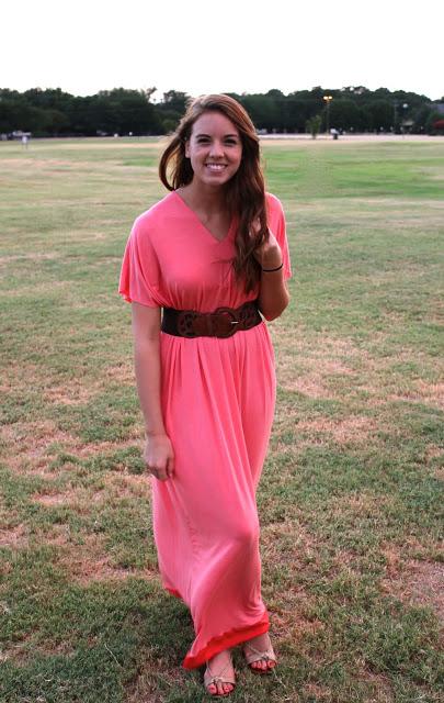 Платье макси из джерси в стиле бохо