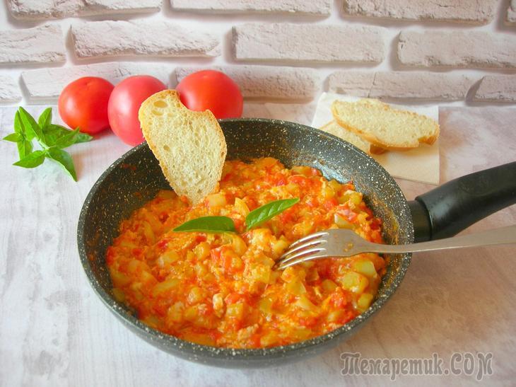 Менемен – турецкий завтрак простой и вкусный!