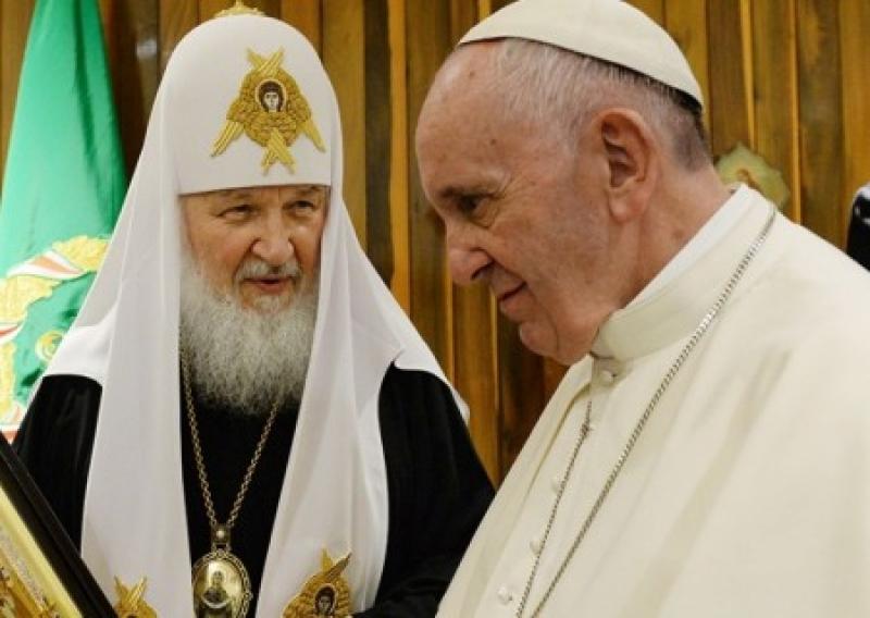 Патриарх Кирилл обратился к Папе Римскому из-за давления на УПЦ МП