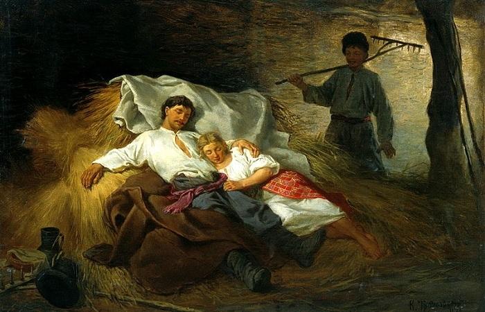 На сеновале, 1872 (700x450, 142Kb)