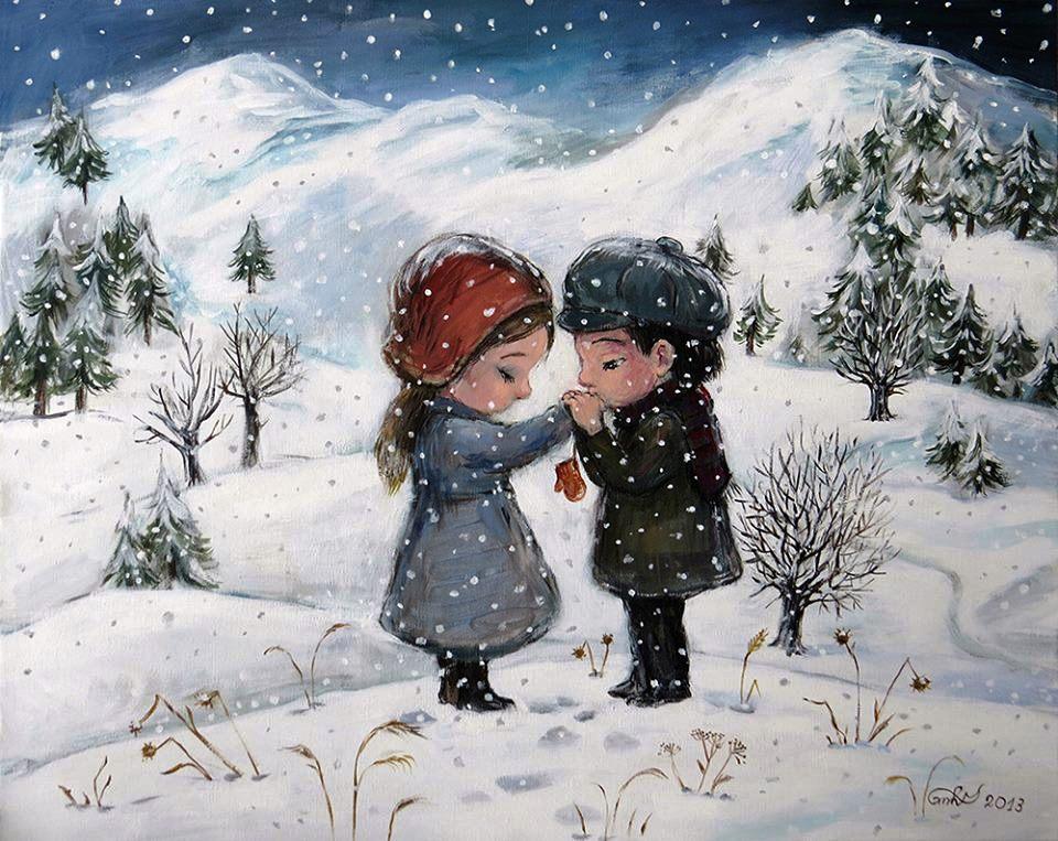 """Зимнее настроение. """"Снег кружится, летает, летает..."""""""