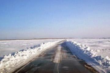 Переправа по льду через водоемы и реки