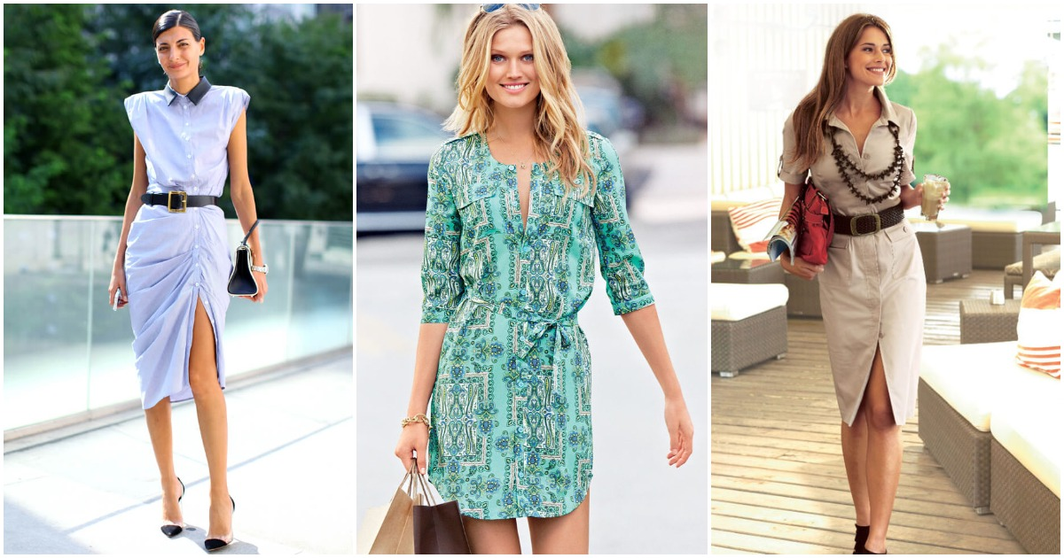 Платье-рубашка: всегда актуально и стильно