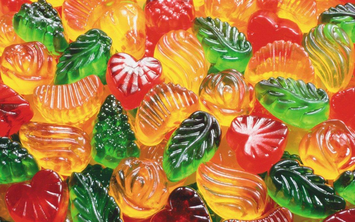 Производство желейных конфет на видео
