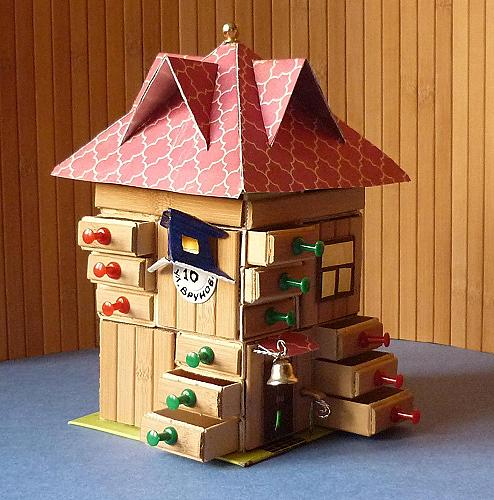 Сказочные домики из коробок своими руками