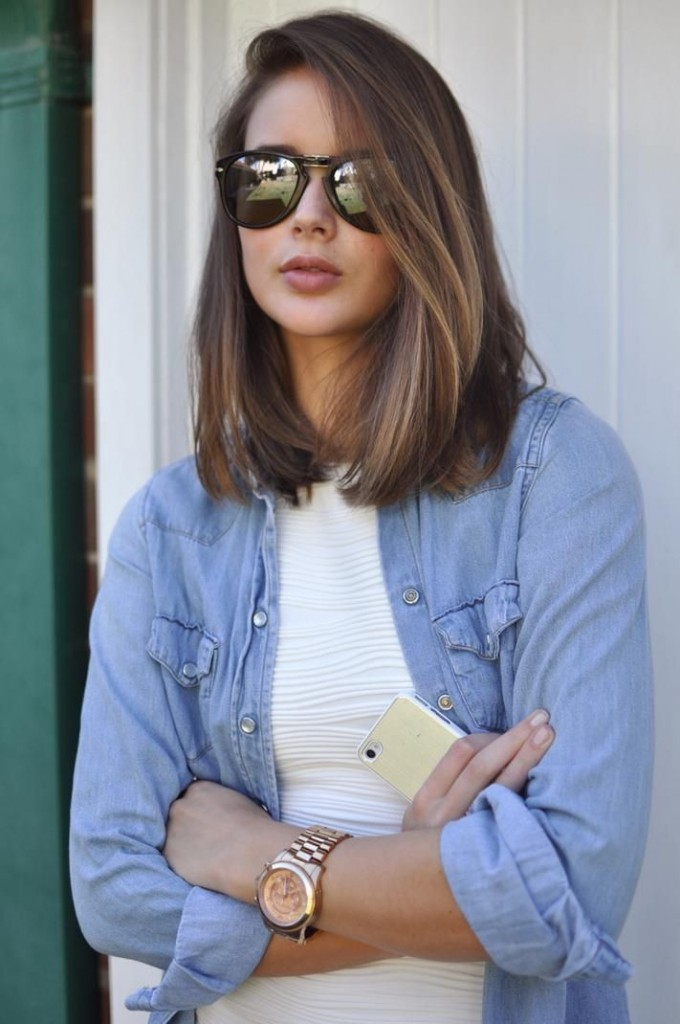 Shoulder length haircut styles for women